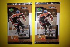 2 Lot 1999 Upper Deck Retro McDonald's Hockey Cards Unopened Wax Packs Gretzky