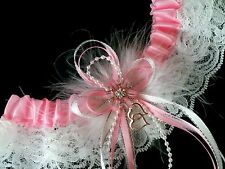 PLUS SIZE Love PINK WHITE LACE GARTER BELT Prom Wedding LINGERIE Dance Bridal