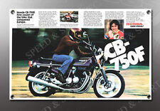 VINTAGE HONDA 1977 CB-750F IMAGE BANNER NOS IMAGE REPRODUCTION