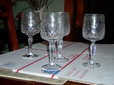 USED - FULLY HAND CRAFTED  WINE GLASSES  GLASSES - OVER 24% PBO - SET OF 4