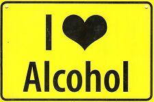 "ALBATROS Ortsschild wie Postkarte (306) ""I love Alcohol"""