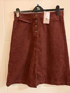 TU Bnwt Rust Cord Pencil Skirt Size 12