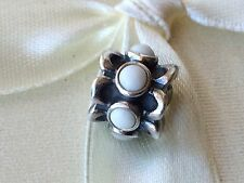 Authentic Pandora Charm Bead Forget me not white 790470