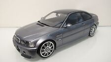 1:18 OTTOMOBILE 2000 BMW E46 M3 CSL M-RIMS OT177B GRAY COUPE RESIN CARS