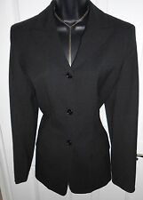 NEW WOMENS BANANA REPUBLIC WOOL BLEND SLEEK SUIT BLAZER SZ 6 in BLACK