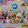 US Lot Of 18 Figures Super Mario Bro Action Doll Kid Toy Model Cake Toppers Gift