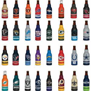 Insulated 12 oz. Football Beer Bottle Cooler Holder Koozie Zip-Up Koozie