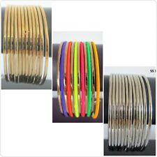 Indian Fashion Bangles Multicolor Trendy Bollywood Choora Bracelets Set of 12