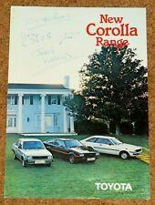 1980 New TOYOTA COROLLA Sales Brochure - SR Coupe, Liftback, Saloon, Estate