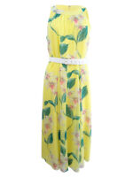 Tommy Hilfiger Women's Belted Printed Midi Dress