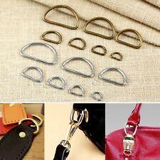 20Pcs Metal Handbag Leather Bag Purse Strap Belt Web D Ring Buckle Clasp 7 Sizes