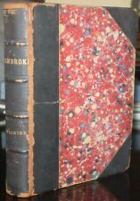 1894, PEMBROKE, A NOVEL, by MARY E. WILKINS, ANTIQUE LEATHER BOUND BOOK
