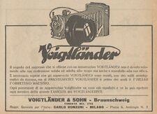 Z1560 Macchina fotografica VOIGTLANDER - Pubblicità d'epoca - 1926 Old advert