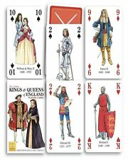 Heritage Playing Cards - KINGS AND QUEENS OF ENGLAND - NEW!  Very educational
