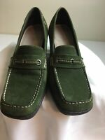 Aerosoles Women Velvet Heels Green Size 7US Closed Toes Wedge Shoes