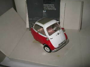 1/18 BMW CLASSIC BMW ISETTA 250 1955-1962  RED/ WHITE LIMITED EDITION RARE MODEL