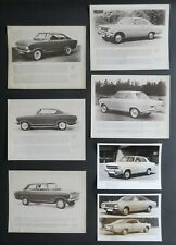 Original U.K. G.M. OPEL Press Photographs 1965-72 Kadette, Rekord, Commodore