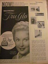 Rhonda Fleming, Westmore Tru Glo Makeup Vintage Print Ad
