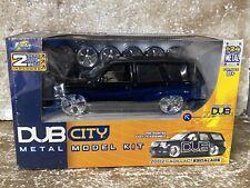 Jada Toys DUB CITY Model Kit 1:24 scale 2002 CADILLAC ESCALADE BLACK