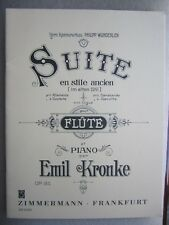 Suite for Flute and Piano by Kronke Op 81 *NEW*  Publisher Zimmermann