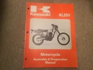 Kawasaki 250 Paper Motorcycle Repair Manuals Literature For Sale Ebay