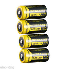 4x NITECORE NL166 16340 RCR123A 650mAh Battery for Netgear Arlo Security Camera