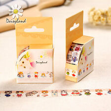 Adorable Cute Cats Washi Tape Paper Masking Sticker Diary Scrapbook Tag Decor