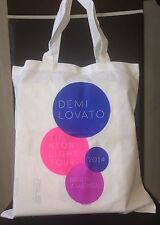 Demi Lovato Rare New Tote Bag VIP Merch The Neon Lights Tour 2014 Meet and Greet