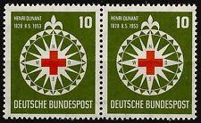 Bund aus 1953 ** postfrisch MiNr.164 als Paar - 125. Geb. von Henri Dunant!