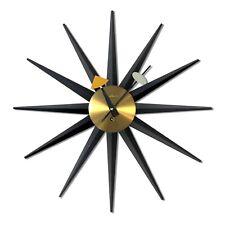 George Nelson Original 1950's wind up Sunburst clock Howard Miller Model 2202
