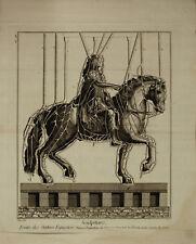 STATUA EQUESTRE FUSIONE CERA Wax Casting Equestrian Sculpture - Incisione 1700