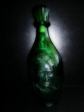 Vintage Green Glass Decanter (11 INCHES)