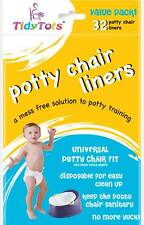 TidyTots Disposable Potty Chair Liners - Value Pack - Universal Potty Chair Fit