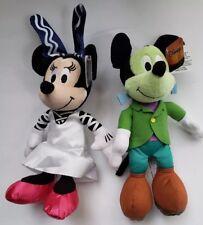 "2018 Mickey & Minnie Mouse Halloween Plush - 10""  SET OF 2 NWT"