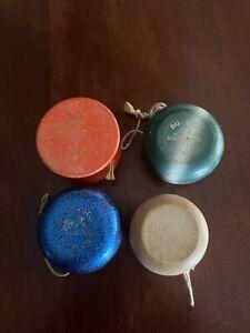 Lot Of 4 Wooden Yo-Yo's 2 Duncan 1 Unbranded 1 Unknown
