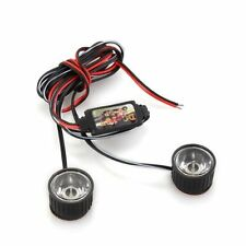 White 2 LED Flashlight Strobe warning light strobe light brake 3W CT R4X4 T8X8