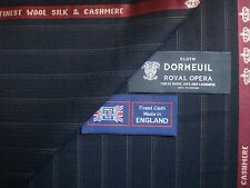 "DORMEUIL ""ROYAL OPERA"" WOOL,SILK,CASHMERE SUITING FABRIC- 3.4 m.-MADE IN ENGLAND"