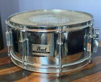 "Pearl 14"" X 6.5"" Steel Export Pro Series Snare Drum signature custom deep chrome"