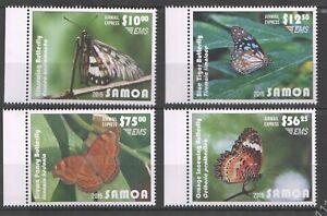 Samoa 2015  fauna butterflies set 4v MNH