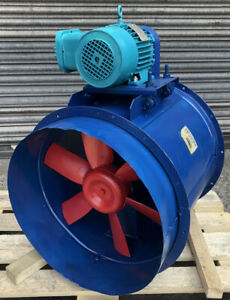 Axial Extractor Fan Spray Booth Exhaust Fumes 1.1kW Explosion proof 3-Ph motor