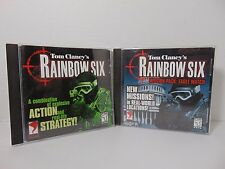Tom Clancy's Rainbow Six 1998 PC Game Lot Rainbow Six + Mission Pack Eagle Watch