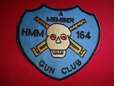 """A MEMBER GUN CLUB"" US Marines HMM-164, Vietnam War Patch"