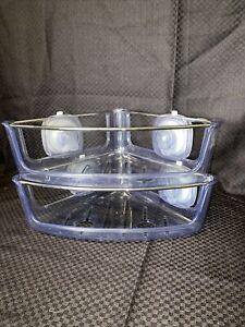 Set Of 2 OXO Good Grips StrongHold Suction Corner Basket Shelf Organizer