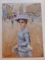 Original  Oil Painting PORTRAIT of a lady signed