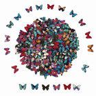 28MM Mixed Bulk Butterfly Phantom Wooden Sewing Buttons Craft Scrapbooking 2Hole