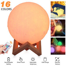 3D Moon Lamp USB LED Night Light Moonlight Xmas Gift Touch Sensor Color Changing