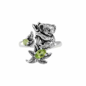 Koala Bär .925 Sterlingsilber Ring Von Peter Stone Schmuck