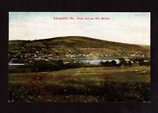 Postcard Laceyville Pa From Across River  Wyoming County