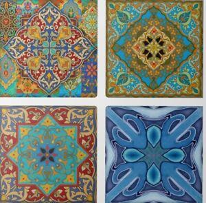 Moroccan Morocco  Design ceramic Wall tiles Kitchen Bathroom 4 designs 2 Sizes