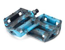 "MISSION IMPULSE PC 9/16"" PEDALS BLACK & BLUE BMX BIKE BMX STREET BMX FREESTYLE"